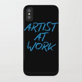 Artist at Work (blue) iPhone Case
