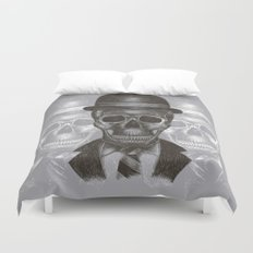 Worked To Death (Grey version) Duvet Cover