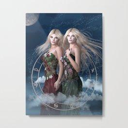 Gemini zodiac fantasy Metal Print