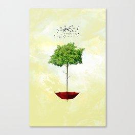 Arboreal umbrella Canvas Print