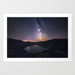 (RR 294) Milky Way above Lough Tay - Ire Art Print