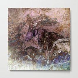 Chauvet Cave Horse Heads II Metal Print