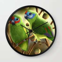 Double-eyed Fig Parrot Wall Clock