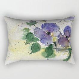 purple flowers 2 Rectangular Pillow