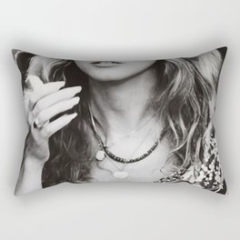 Stevie Nicks Young Black and white Retro Silk Poster Frameless Rectangular Pillow