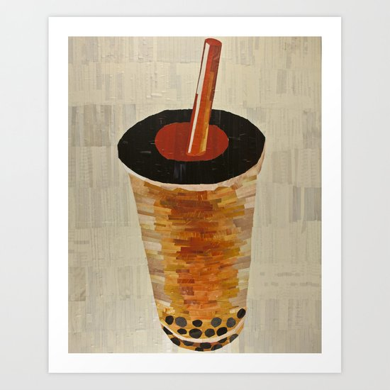 bubble tea Art Print