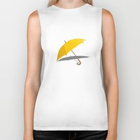 himym Biker Tanks featuring HIMYM - The Yellow Umbrella by George Hatzis