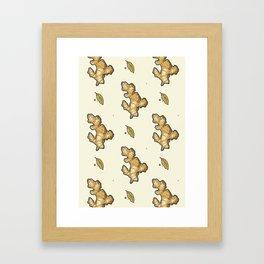 ginger root power Framed Art Print