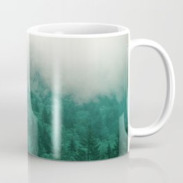 Misty Moody Mountain Forest Fog Northwest Oregon Washington Coffee Mug