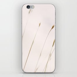 Tall grass against cloudy sky iPhone Skin