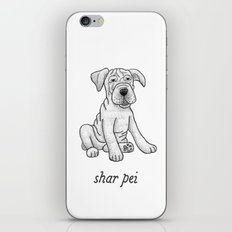 Dog Breeds: Shar Pei iPhone & iPod Skin
