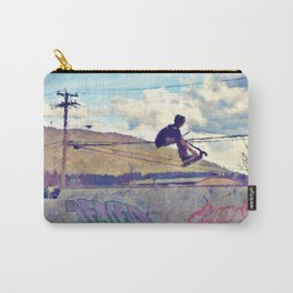 Graffitti Glide Stunt Scooter Sports Artwork Carry-All Pouch