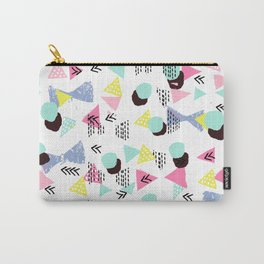 Geometric Minimal pastel modern pattern design triangle dots polka dots memphis basic nursery decor Carry-All Pouch