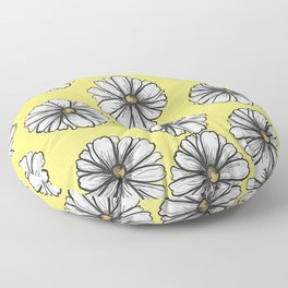Please Don't Eat the Daisies Chartreuse Floor Pillow