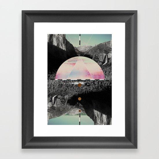 Candy Floss Skies Framed Art Print