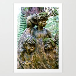 William Ricketts Sanctury, Mount Dandenong, Victoria Art Print