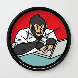 programmer program gift hacker code Wall Clock