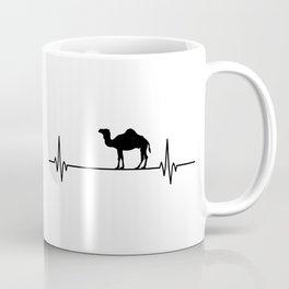 Dromedary Heartbeat Pulse Humor Animal Lover Gifts Coffee Mug