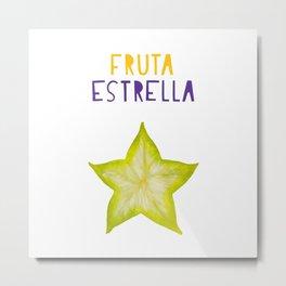 Star Fruit Tropical Fruta Estrella Metal Print