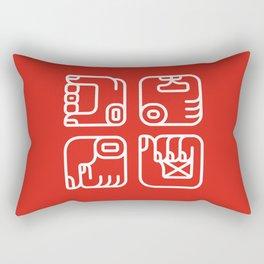 Mayan Glyphs ~ Hands Rectangular Pillow