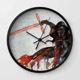 Kylo Ren of StarWars: The Force Awakens Wall Clock