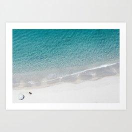 Drone Beach Art Print