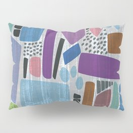 Abstract print, mid century style vintage looking pattern Pillow Sham