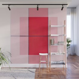 August - thin line graphic Wall Mural