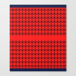 Red Webbing - Spider-Man (Border) Canvas Print