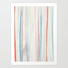 Painterly Stripes Art Print