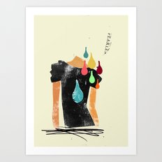 Love grows cold, blood, tears and gold won't make it any better Art Print