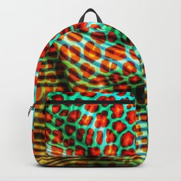 Leopard spot flowers on fabric Backpack