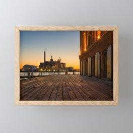 Henderson's Wharf Sunset Framed Mini Art Print