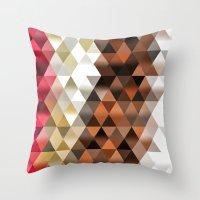triangle Throw Pillows featuring Triangle by Susann Mielke