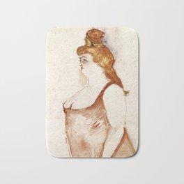 Henri de Toulouse-Lautrec - Mademoiselle Cocyte in La Belle Hélène Bath Mat