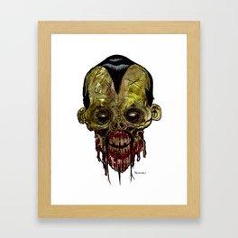 Heads of the Living Dead Zombies: Fu Manchu Zombie Framed Art Print