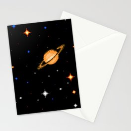 Deep  Dark  Space Stationery Cards