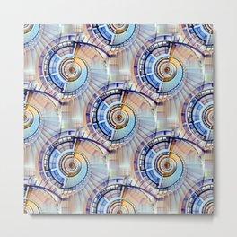 Spiral Staircase Pattern Metal Print