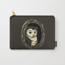 Owl in a Tree Art Carry-All Pouch