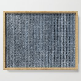 Ink Weaves: Sapphire (I) Serving Tray