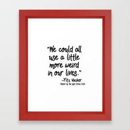 Fan-favorite Fitz Quote Framed Art Print