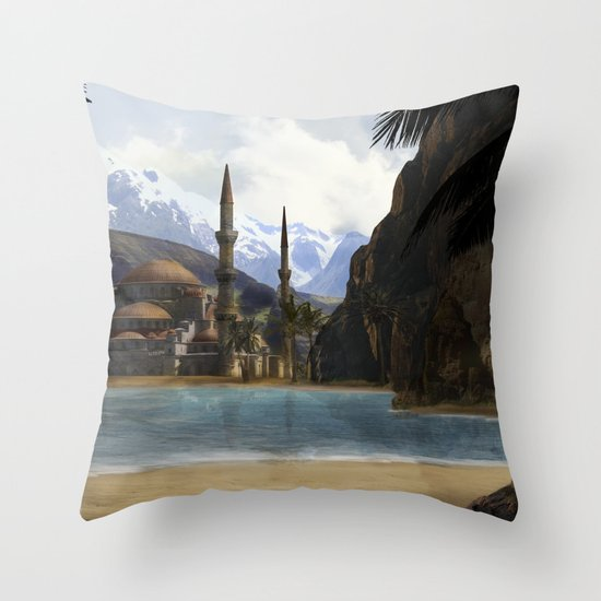 Hidden in the Mountains Throw Pillow