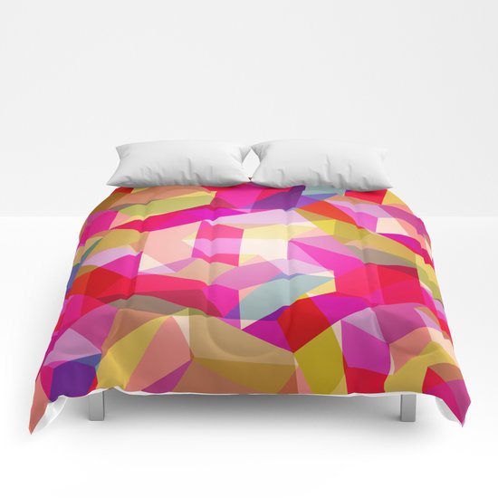 Colourful Twisted rectangles Comforters