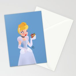 Princess and mouses Stationery Cards
