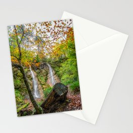 Grey Mares Tail Waterfall Wales Stationery Cards