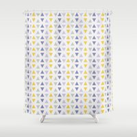 southwest Shower Curtains featuring Southwest Triangles by Kara Peters