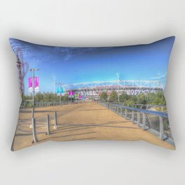 West Ham Olympic Stadium And The Arcelormittal Orbit  Rectangular Pillow