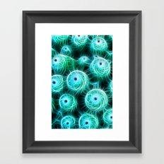 Cactus Swirl Framed Art Print