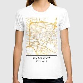 GLASGOW SCOTLAND CITY STREET MAP ART T-shirt