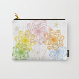 Blooming Flowers Carry-All Pouch
